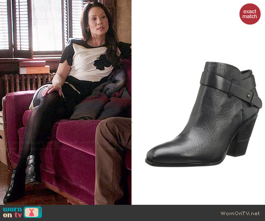 Dolce Vita Hilary Bootie worn by Lucy Liu on Elementary