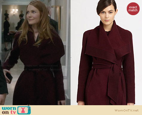 Donna Karan Draped Cashmere Coat worn by Darby Stanchfield on Scandal