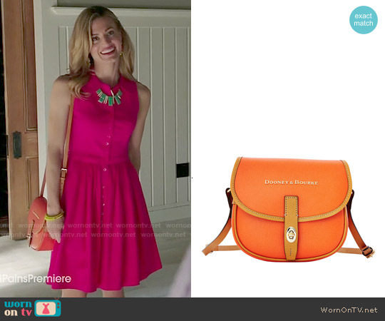 Dooney & Bourke Claremont Field Bag in Orange worn by Brooke D'Orsay on Royal Pains