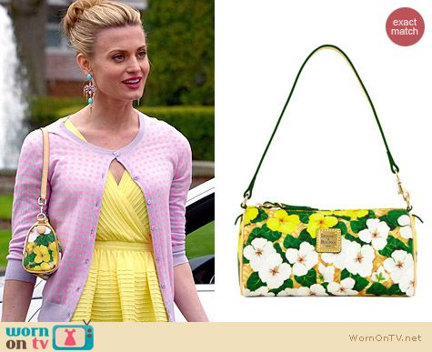 Dooney & Bourke Small Floral Barrel Bag worn by Brooke D'Orsay on Royal Pains