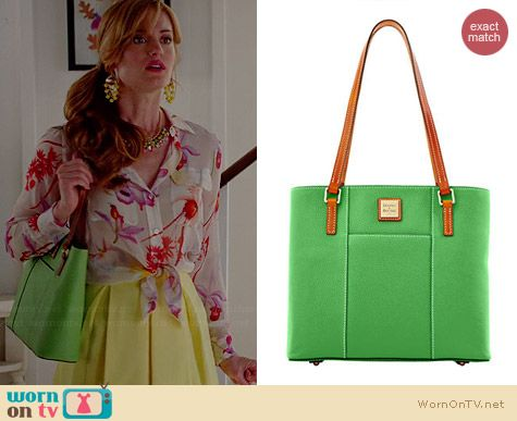 Dooney & Bourke Small Lexington Shopper Tote in Green worn by Brooke D'Orsay on Royal Pains