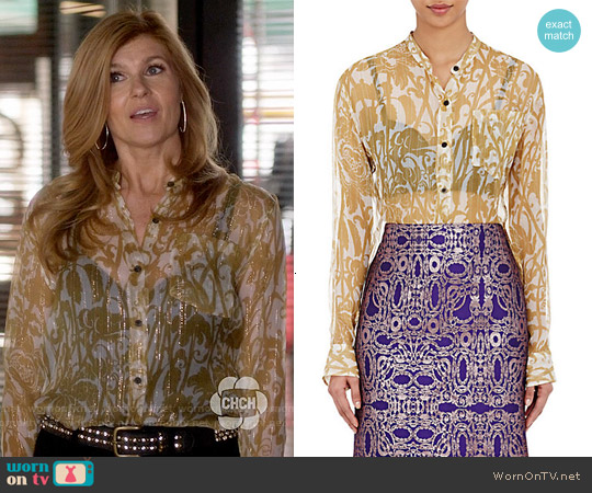 Dries van Noten Calybe Shirt worn by Connie Britton on Nashville