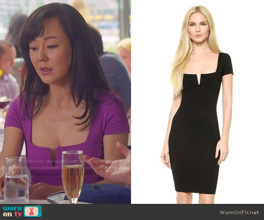 DSquared2 Notch Neck Jersey Dress worn by Yunjin Kim on Mistresses
