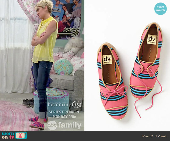 DV by Dolce Vita Pink Manx Oxfords worn by Chelsea Kane on Baby Daddy