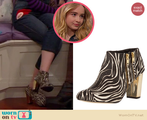 DV Dolce Vita Nimbus Boots in Zebra Calf worn by Sabrina Carpenter on Girl Meets World