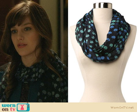 Echo Design Vintage Apples Print Scarf worn by Aubrey Peeples on Nashville