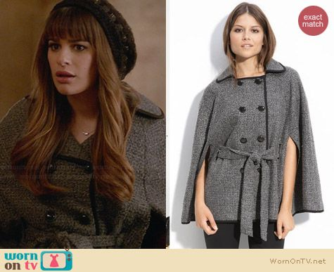 ECI Belted Cape worn by Lea Michele on Glee