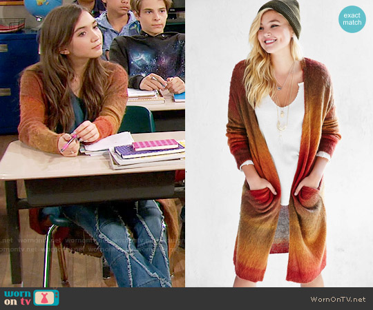 Ecote Brushed Autumn Cardigan worn by Rowan Blanchard on Girl Meets World