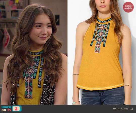 Ecote Desert Sunset Beaded Halter Top worn by Rowan Blanchard on Girl Meets World
