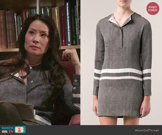 Edun Stripe Shirt Dress worn by Lucy Liu on Elementary