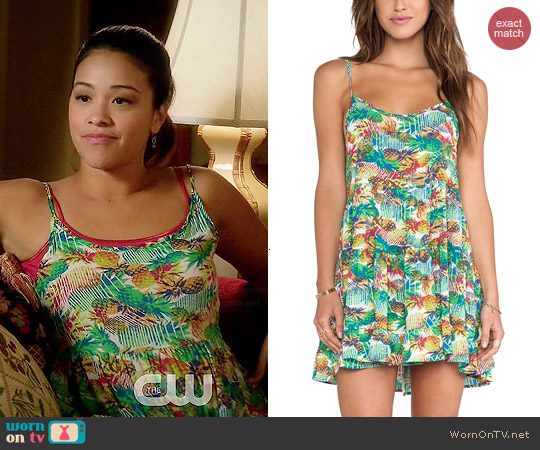 Eight Sixty Pineapple Express Dress worn by Gina Rodriguez on Jane the Virgin