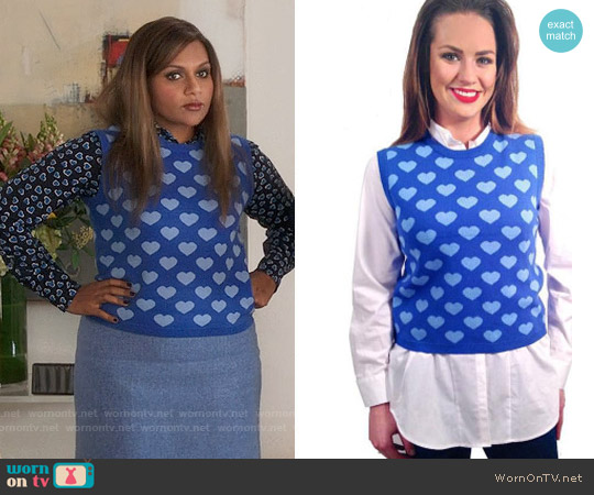 Elana Carello Bright Heart Sweater worn by Mindy Lahiri on The Mindy Project