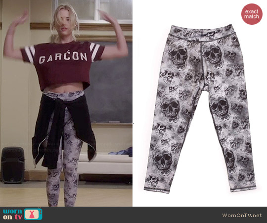 Electric & Rose Shell Leggings in Skull Print worn by Hanna Marin on PLL