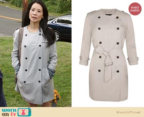 Joan Watson Fashion: All Saints Suzette Coat worn by Lucy Liu