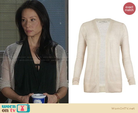 Elementary Fashion: All Saints Castel Cardigan worn by Lucy Liu