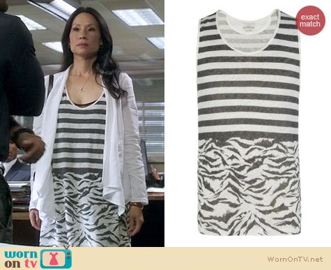 Elementary Fashion: All Saints Le Tigre Tank worn by Lucy Liu