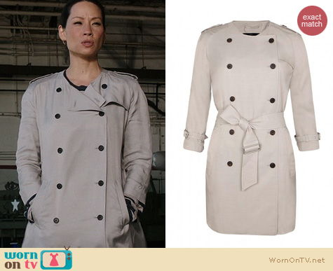 Elementary Fashion: All Saints Suzette Coat worn by Lucy Liu