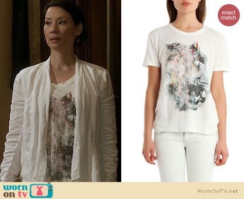 Elementary Fashion IRO Aoili Tee worn by Lucy Liu
