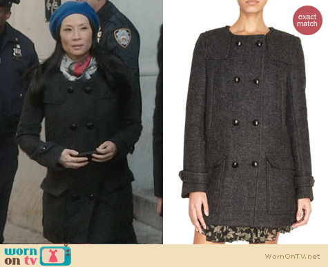 Elementary Fashion: Isabel Marant Clifford Coat worn by Lucy Liu