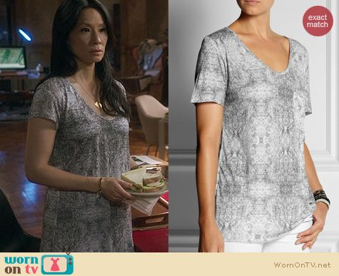 Elementary Fashion: Lot78 Printed Modal Tshirt worn by Lucy Liu