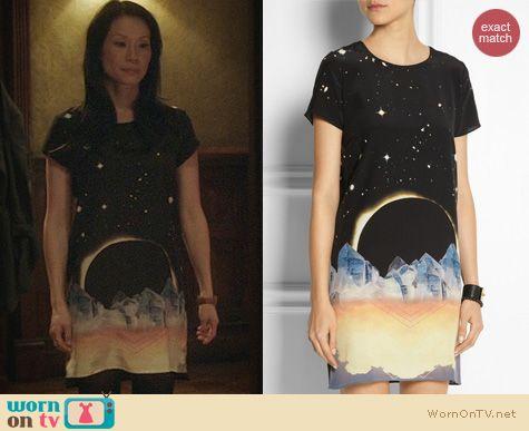 Elementary Fashion: Lulu & Co Eclipse Tshirt Dress worn by Lucy Liu