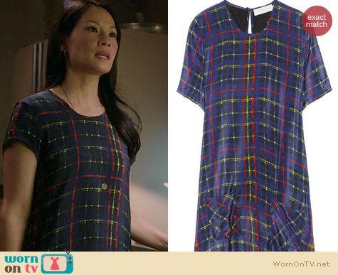 Elementary Fashion: Preen Tartan Dress worn by Lucy Liu