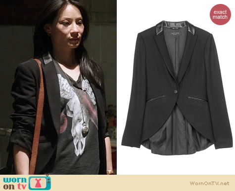 Elementary Fashion: Rag & Bone Hubert Blazer worn by Lucy Liu