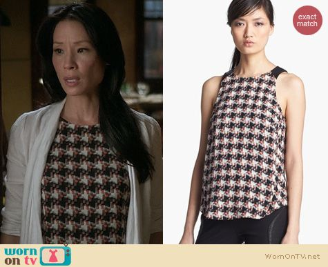 Fashion of Elementary: Rag & Bone Clemence Tank worn by Lucy Liu