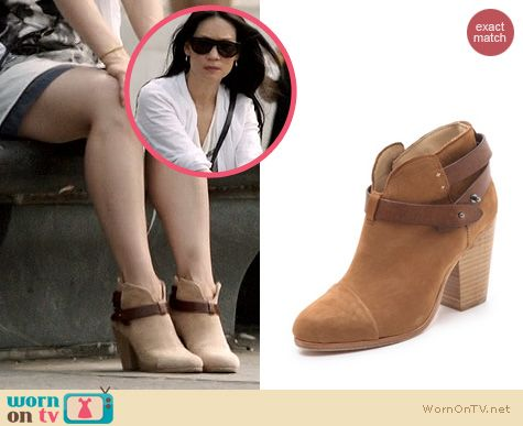 Elementary Fashion: Rag & Bone Harrow booties worn by Lucy Liu