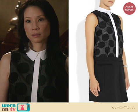 Joan Watson Fashion: Victoria Beckham Polka dot shirtdress worn on Elementary