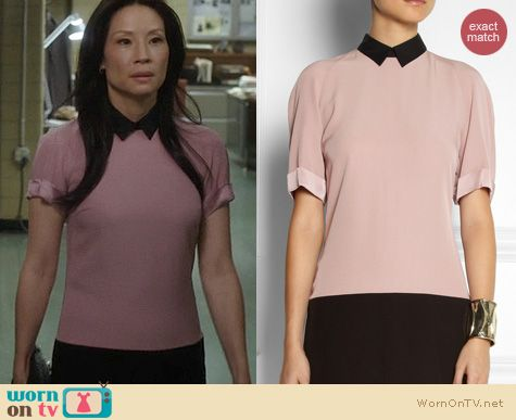Elementary Fashion: Victoria Beckham Two Tone Shirtdress worn by Lucy Liu