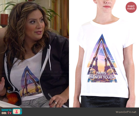 Eleven Paris French Touch Tee worn by Cristela Alonzo on Cristela