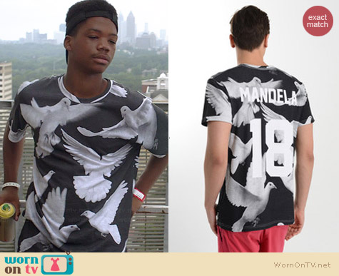 Eleven Paris Mandela Dove Tee worn by Astro on Red Band Society