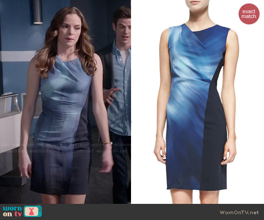 Elie Tahari Amymarie Dress in Myster worn by Danielle Panabaker on The Flash