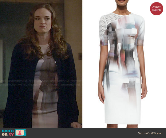 Elie Tahari Carla Dress worn by Danielle Panabaker on The Flash