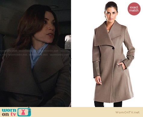 Elie Tahari Carlotta Coat worn by Julianna Margulies on The Good Wife