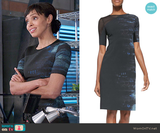 Elie Tahari Emory Half Sleeve Dress worn by Tamara Taylor on Bones