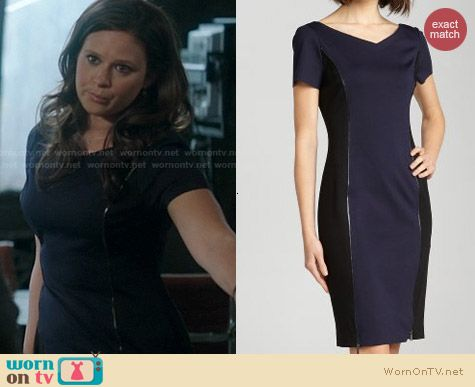 Elie Tahari Erica Zipper Seam Dress worn by Katie Lowes on Scandal