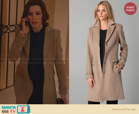 Elie Tahari Joanne Coat worn by Julianna Marguiles on The Good Wife