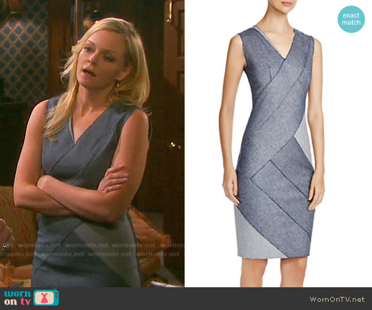 Elie Tahari Judith Color Block Bandage Dress worn by Martha Madison on Days of our Lives