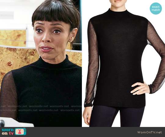 Elie Tahari Maxina Sweater worn by Tamara Taylor on Bones