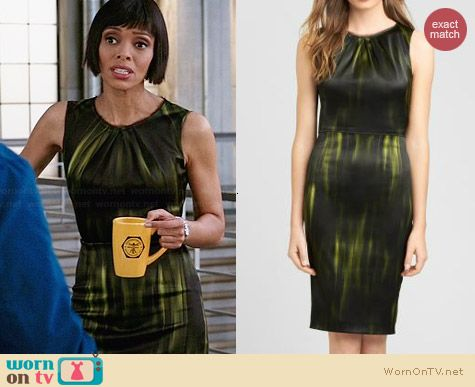 Elie Tahari Rosario Dress in Habitat worn by Tamara Taylor on Bones