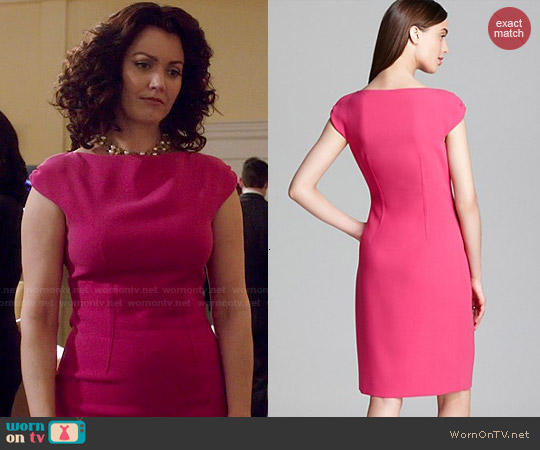 Elie Tahari Ruth Dress worn by Bellamy Young on Scandal