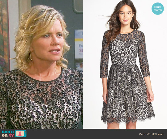 Eliza J Lace Fit & Flare Dress worn by Mary Beth Evans on Days of our Lives