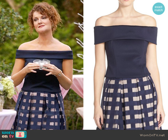 Eliza J Off The Shoulder Top worn by Rebecca Wisocky on Devious Maids