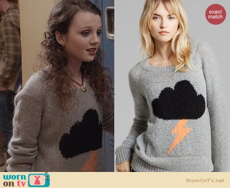 Elizabeth and James Raincloud Sweater worn by Stefania Owen on The Carrie Diaries