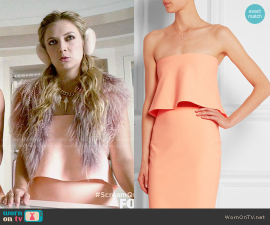 Elizabeth & James 'Addilyn' Crop Top and 'Aisling' Skirt worn by Billie Lourd on Scream Queens