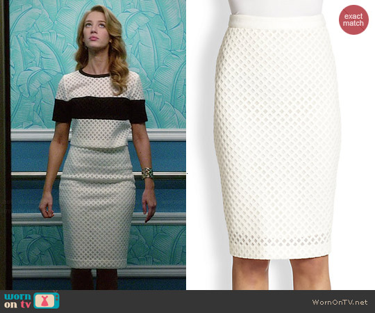 Elizabeth & James Aeon Lattice Pencil Skirt worn by Petra Solano on Jane the Virgin