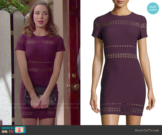 Elizabeth & James Ari Dress in Plum worn by Ashleigh Brewer on The Bold & the Beautiful
