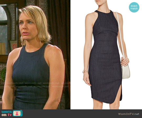Elizabeth & James Bardot Denim Dress worn by Arianne Zucker on Days of our Lives
